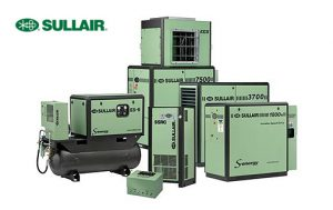 A range of Sullair air compressors with logo