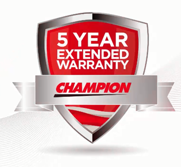 Champion 5 Year Extended Warranty Badge